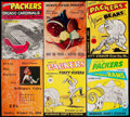 Football Collectibles:Programs, 1953-1956 Green Bay Packers Program Lot of 6.. ...