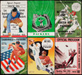 Football Collectibles:Programs, c. 1940s-50s Green Bay Packers Program Lot of 6.. ...