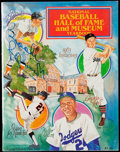 Baseball Collectibles:Publications, 1983 Baseball Hall of Fame Signed Yearbook with B. Robinson, Mantle and Williams.. ...
