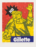 Prints & Multiples, Wang Guangyi (Chinese, b. 1957-). Gillette, from The Great Criticism Series, 2006. Lithograph in colors on wove pape...