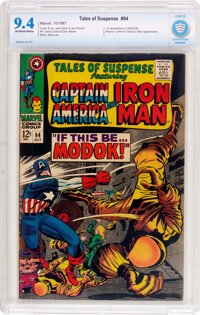 Tales of Suspense #94 (Marvel, 1967) CBCS NM 9.4 Off-white to white pages