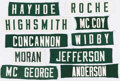 Football Collectibles:Others, Green Bay Packers Nameplate Lot of 10, with John Jefferson and Donny Anderson.. ...