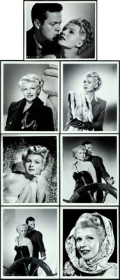 """The Lady from Shanghai by Robert W. Coburn and Ned Scott (Columbia, 1947). Portrait Photos (7) (8"""" X 10"""")..."""