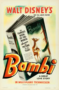 "Movie Posters:Animation, Bambi (RKO, 1942). One Sheet (27"" X 41"") Style A.. ..."