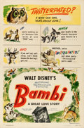"Movie Posters:Animation, Bambi (RKO, 1942). One Sheet (27"" X 41"") Style B.. ..."