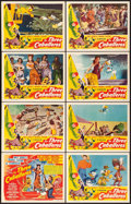 "Movie Posters:Animation, The Three Caballeros (RKO, 1945). Lobby Card Set of 8 (11"" X 14"")..... (Total: 8 Items)"