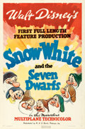 """Movie Posters:Animation, Snow White and the Seven Dwarfs (RKO, 1937). One Sheet (27"""" X 41"""") Style A.. ..."""