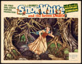 "Movie Posters:Animation, Snow White and the Seven Dwarfs (RKO, 1937). Lobby Card (11"" X 14""). Gustaf Tenggren Artwork.. ..."
