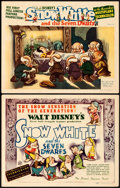 "Movie Posters:Animation, Snow White and the Seven Dwarfs (RKO, 1937). Title Lobby Card &Lobby Card (11"" X 14"").. ... (Total: 2 Items)"