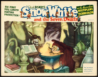 "Snow White and the Seven Dwarfs (RKO, 1937). Lobby Card (11"" X 14"")"