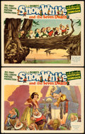 "Movie Posters:Animation, Snow White and the Seven Dwarfs (RKO, 1937). Lobby Cards (2) (11"" X14"") Gustaf Tenggren Artwork.. ... (Total: 2 Items)"