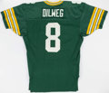 Football Collectibles, 1989-90 Anthony Dilweg Game Worn Green Bay Packers Home Jersey. . ...