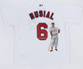 Autographs:Jerseys, Stan Musial Signed Artwork Jersey.. ...