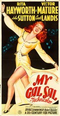 "Movie Posters:Musical, My Gal Sal (20th Century Fox, 1942). Three Sheet (41"" X 78.5"") Style B.. ..."