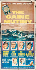"Movie Posters:War, The Caine Mutiny (Columbia, 1954). Three Sheet (41"" X 79""). War....."