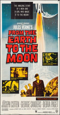 "Movie Posters:Science Fiction, From the Earth to the Moon (Warner Brothers, 1958). Three Sheet(41"" X 81""). Science Fiction.. ..."