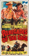 "Movie Posters:Western, Renegades of the Sage (Columbia, 1949). Three Sheet (41"" X 79""). Western.. ..."