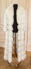 American:Academic, A Zsa Zsa Gabor Fur Coat, Circa 1960s.. White, floor-length, longsleeves, large collar with peaked lapels, lined in ivory-c...