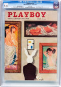 Magazines:Vintage, Playboy V3#8 Newsstand Edition (HMH Publishing, 1956) CGC NM 9.4 White pages....