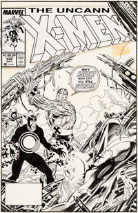 Jim Lee and Dan Green Uncanny X-Men #248 Cover Original Art (Marvel, 1989)