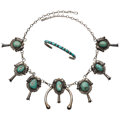 Estate Jewelry:Suites, Navajo Turquoise, Silver Jewelry. ... (Total: 2 Items)