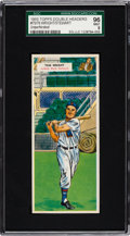 Baseball Cards:Singles (1950-1959), 1955 Topps Double Headers (Unperforated) Wright/Stewart #75/76 SGC96 Mint 9 - Pop One With None Higher! ...