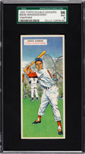 Baseball Cards:Singles (1950-1959), 1955 Topps Double Headers (Unperforated) Harmon/Skinner #55/56 SGC96 Mint 9 - Pop One With None Higher! ...