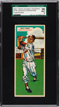 Baseball Cards:Singles (1950-1959), 1955 Topps Double Headers (Unperforated) Moon/Cunningham #37/38 SGC96 Mint 9 - Pop One With None Higher....