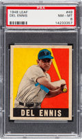 Baseball Cards:Singles (1940-1949), 1948 Leaf Del Ennis #49 PSA NM-MT 8....