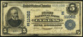 National Bank Notes:Pennsylvania, Lykens, PA - $5 1902 Plain Back Fr. 606 The First NB Ch. #(E)11062. ...