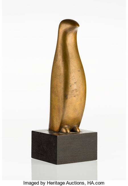 Beniamino Benevenuto Bufano (American/Italian, 1898-1970)Penguin, circa 1966Patinated bronze10-1/8 inches high (25...