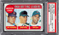 Baseball Cards:Singles (1960-1969), 1969 Topps AL Batting Leaders Yastrzemski/Cater/Oliva #1 PSA GemMint 10. ...