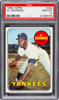 Baseball Cards:Singles (1960-1969), 1969 Topps Al Downing #292 PSA Gem Mint 10 - Pop Two....