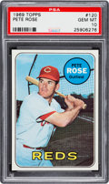 Baseball Cards:Singles (1960-1969), 1969 Topps Pete Rose #120 PSA Gem Mint 10 - Pop Five....