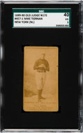 "Baseball Cards:Singles (Pre-1930), 1887-90 N172 Old Judge ""Silent"" Mike Tiernan (#457-1) SGC 40 VG 3...."