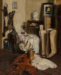 Dean Cornwell (American, 1892-1960) The Artist's Studio Oil on canvas 30 x 24.25 in. Signed on