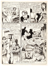 Matt Baker Flamingo Daily Comic Strip/Panel Page Original Art (Universal Phoenix Features, 1952)