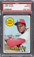 Baseball Cards:Singles (1960-1969), 1969 Topps Curt Flood #540 PSA Gem Mint 10....