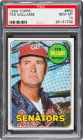 Baseball Cards:Singles (1960-1969), 1969 Topps Ted Williams #650 PSA Gem Mint 10 - Pop Four....