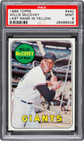 Baseball Cards:Singles (1960-1969), 1969 Topps Willie McCovey (Yellow Letters) #440 PSA Mint 9....