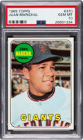 Baseball Cards:Singles (1960-1969), 1969 Topps Juan Marichal #370 PSA Gem Mint 10 - Pop One! ...