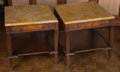 Furniture , A Pair of Louis XVI-Style Mahogany Side Tables with Marble Tops. 23-1/4 h x 22-1/2 w x 25 d inches (59.1 x 57.2 x 63.5 cm). ... (Total: 2 Items)