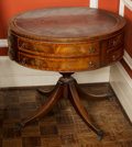 Furniture , An English George III-Style Mahogany Library Table. 27-1/2 inches high x 30 inches diameter (69.9 x 76.2 cm). ...