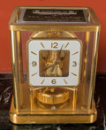 A Jaeger Lecoulture Presentation Clock, late 20th century Marks: (various) 9 h x 8 w x 6 d inches (22.9 x 20.3