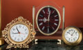 Three Table Clocks, 20th century Including Seiko, Relide, and other Marks: (various) 7-1/8 inches
