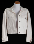 American:Academic, A Zsa Zsa Gabor Set of Clothing, Circa 1980s.. Two total; the firsta white cotton shirt, large bejeweled patch on front dep... (Total:2 Items)
