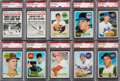 Baseball Cards:Lots, 1969 Topps Baseball (#'d 102-199) PSA MINT 9 Collection (57). ...
