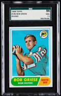 Football Cards:Singles (1960-1969), 1968 Topps Bob Griese #196 SGC 86 NM+ 7.5....