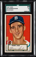 Baseball Cards:Singles (1950-1959), 1952 Topps Warren Spahn #33 SGC 84 NM 7.. ...