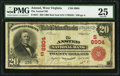 National Bank Notes:West Virginia, Ansted, WV - $20 1902 Red Seal Fr. 641 The Ansted NB Ch. # (S)8904....